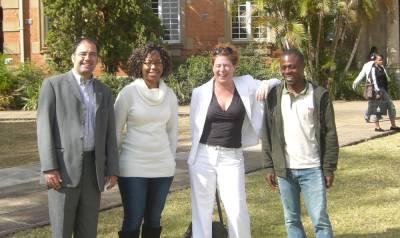 INISA Stipendiaten 2009 - Siphesihle Dumisa und Akeem Ngomu Akilimali